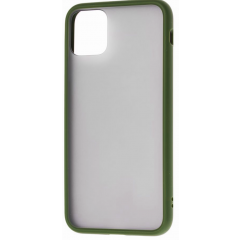 Чехол LikGus Maxshield матовый iPhone 11 Pro Max (хаки)