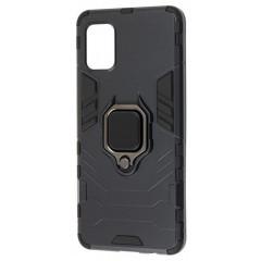 Чехол Armor + подставка Samsung Galaxy A41 (черный)