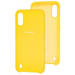 Чехол Silky Samsung Galaxy A01 (желтый)