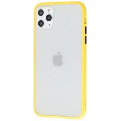 Чехол LikGus Maxshield матовый iPhone 11 Pro Max (желто-черный)