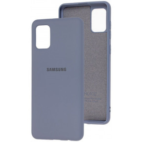 Чехол Silicone Case Samsung Galaxy A31 (серый)
