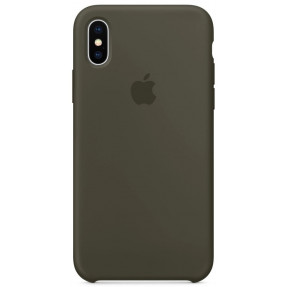 Чехол Silicone Case iPhone Xs Max (темно-серый)