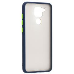 Чехол LikGus Maxshield матовый Xiaomi Redmi Note 9 (темно-синий)