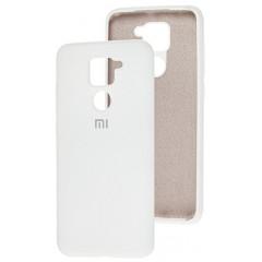 Чехол Silicone Case Xiaomi Redmi Note 9 (белый)