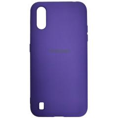 Чехол Silicone Case Samsung Galaxy A01 (фиолетовый)