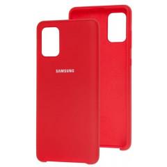 Чехол Silky Samsung Galaxy A71 (красный)