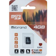 Карта памяти Mibrand microSD 4gb (6cl)