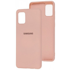 Чехол Silicone Case Samsung Galaxy A31 (бежевый)
