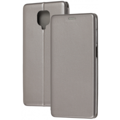 Книга Premium Xiaomi Redmi Note 9s/Note 9 Po (серый)