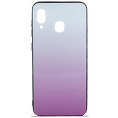 Чехол Glass Case Gradient Samsung A20 / A30 (Light Pink)