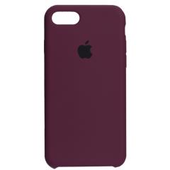 Чехол Silicone Case iPhone 7/8/SE 2020 (бордовый)