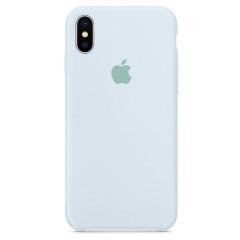 Чехол Silicone Case iPhone Xs Max (небесно-голубой)