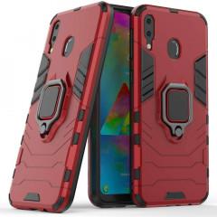 Чехол Armor + подставка Samsung Galaxy M20 (красный)