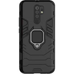 Чехол Armor + подставка Xiaomi Redmi 9 (черный)