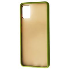 Чехол LikGus Maxshield матовый Samsung Galaxy A51 (хаки)