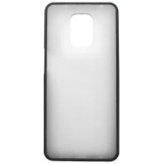 Чехол LikGus Maxshield матовый Xiaomi Redmi Note 9 Pro/Note 9s (черный)