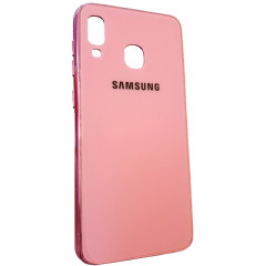 Чехол Glass Case Brand Samsung A20 / A30 (розовый)