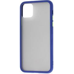 Чехол LikGus Maxshield матовый iPhone 11 Pro Max (темно-синий)
