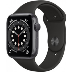 Apple Watch Series 6 40mm Space Gray Aluminium Case with Black Sport Band (MG133UL/A)
