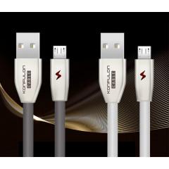 Кабель Konfulon S53 Micro USB (серый) 1m