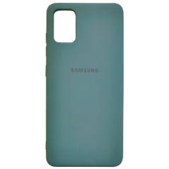 Чехол Silky Samsung Galaxy A71 (темно-зеленый)