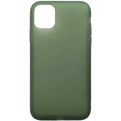 Чехол силиконовый Latex матовый iPhone 11 Pro Max (хаки)