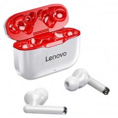 TWS наушники Lenovo LP1 (White/Red)