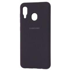 Чехол Silky Samsung Galaxy A20/A30 (черный)