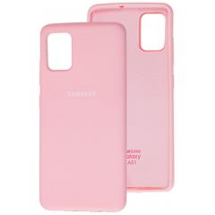 Чехол Silicone Case Samsung Galaxy A51 (розовый)