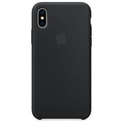 Чехол Silicone Case iPhone Xs Max (черный)