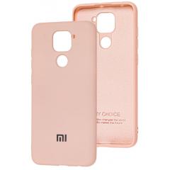 Чехол Silicone Case Xiaomi Redmi Note 9 (бежевый)