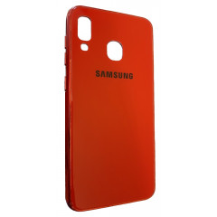 Чехол Glass Case Brand Samsung A20 / A30 (красный)