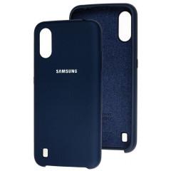 Чехол Silky Samsung Galaxy A01 (темно-синий)