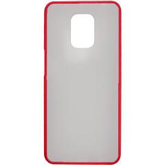 Чехол LikGus Maxshield матовый Xiaomi Redmi Note 9 Pro/Note 9s (красный)
