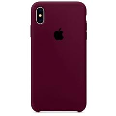 Чехол Silicone Case iPhone Xs Max (бордовый)