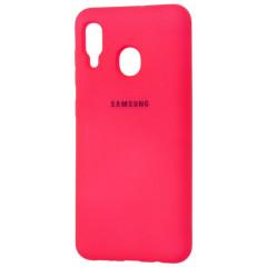 Чехол Silky Samsung Galaxy A20/A30 (ярко розовый)