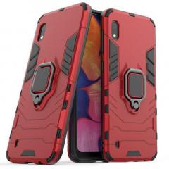 Чехол Armor + подставка Samsung Galaxy A01 (красный)