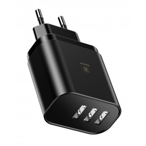 Сетевое зарядное устройство Baseus Mirror Lake Intelligent 3.4А 3 USB (CCALL-BH01)