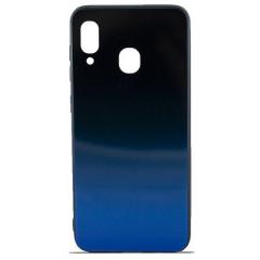 Чехол Glass Case Gradient Samsung A20 / A30 (Blue Abyss)