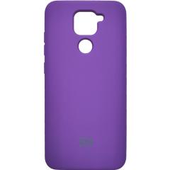 Чехол Silicone Case Xiaomi Redmi Note 9 (фиолетовый)