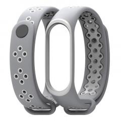 Ремешок для Xiaomi Band 3/4 Mijobs Sport (gray-white)