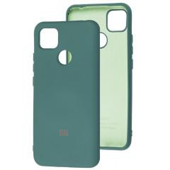 Чехол Silicone Case Xiaomi Redmi 9C (темно-зеленый)