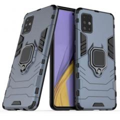 Чехол Armor + подставка Samsung Galaxy A51 (серый)