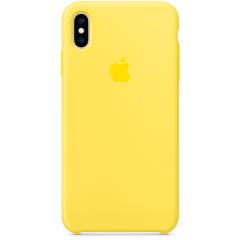 Чехол Silicone Case iPhone Xs Max (желтый)