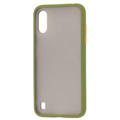 Чехол LikGus Maxshield матовый Samsung Galaxy A01 (хаки)