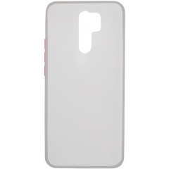 Чехол LikGus Maxshield матовый Xiaomi Redmi 9 (белый)