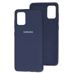 Чехол Silky Samsung Galaxy A71 (темно-синий)