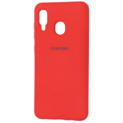 Чехол Silicone Case Samsung A20-2019 (Red)