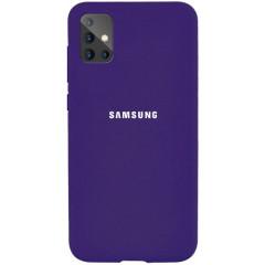 Чехол Silicone Case Samsung Galaxy A51 (фиолетовый)