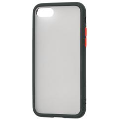 Чехол LikGus Maxshield матовый iPhone 7/8 (черно-красный)